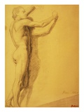 Study of a Male Nude Giclee Print by Edgar Degas