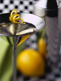 Martini Glass with Lemon Rind Photographic Print by Duncan Smith