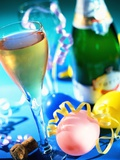 New Year's Party with Champagne Photographic Print by Danilo Calilung