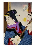Looking as if She Is Enjoying Herself: The Appearance of a Teacher During the Kaei Period Premium Giclee Print by Taiso Yoshitoshi
