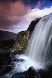 Waterfall and Jagged Rocks in the Irish Countryside Photographic Print by Richard Cummins