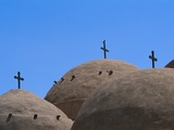 Crosses at Coptic Monastery Photographic Print by Ron Watts