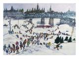 Winterlude, Pirovik - Ottawa-Hull, Canada Giclee Print by Franklin McMahon