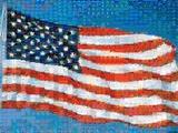 American Flag Mosaic Photographic Print by Joseph Sohm