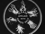 Please Applaud with Hands Only Photographic Print
