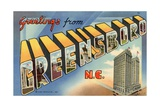 Greeting Card from Greensboro, North Carolina Giclee Print