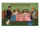 Give Us This Day Our Turkey Giclee Print by  Lake County Museum
