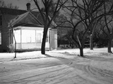 Lighted South Dakota Porch in Winter Photographic Print by John Vachon