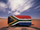 Food Trailer Painted with South African Flag Motif Photographic Print by Charles O'Rear