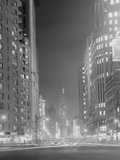 Columbus Circle Toward Empire State Building Photographic Print