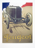 Peugeot Collectable Print by René Vincent