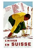 L'hiver en Suisse Reproduction procédé giclée par Erich Hermes