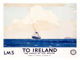 LMS, To Ireland Giclee Print by Norman Wilkinson
