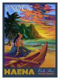 Hawaii, Bali Hai Exotic Haena Giclée-tryk af Rick Sharp
