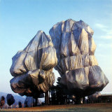 Wrapped Trees XVI Poster by Christo 
