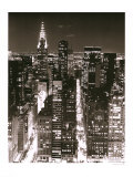 Skyline at Night Posters by Christopher Bliss