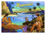 Hawaii, Holo Holo, Outer Island Giclee Print by Rick Sharp