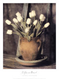 Tulips on Bench Posters by Laurie Eastwood