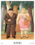 A Couple Poster by Fernando Botero
