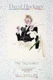 Celia in a Black Dress with White Flowers No. 48 Collectable Print by David Hockney