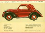 La Vettura Topolino Fiat Giclee Print