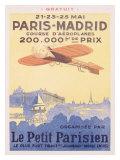 Paris-Madrid, Le Petit Parisien Giclee Print