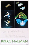 Falls, Pratfalls + Sleights of Hand Affiches par Bruce Nauman