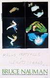 Falls, Pratfalls + Sleights of Hand Posters van Bruce Nauman