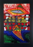 The Eye and the Beard of God Prints by Friedensreich Hundertwasser