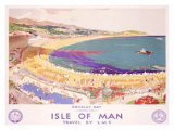 Isle of Man, Travel by LMS Giclee Print by Christopher Clark
