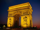 Arc de Triomphe de l'Etoile Illuminated at Night Photographic Print by Reed Kaestner