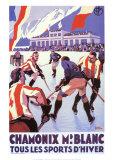 Chamonix, Französisch Kunstdrucke