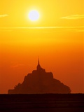Mont-St.-Michel at Sunset Photographic Print by Mark Karrass