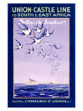 Union Castle Line to South Africa Giclée-tryk