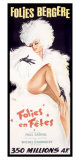 Folies-Bergere, Cabaret Dance Theater Giclee Print by Okley 