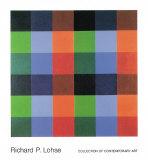 9 x 4 Farborte 1954-82 Kunstdruck von Richard P. Lohse