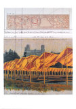 Die Pforten, Projekt f&#252;r den Central Park, Collage 1990 Kunstdrucke von Christo 