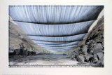 Over the River, Project for Colorado, From Below Poster by Christo