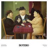 I Giocatori di Carte Plakat av Fernando Botero