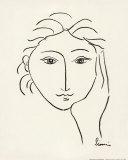 Woman's Face Sketch II Prints by Simin Meykadeh