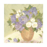 Sun Porch Hydrangeas II Art by Patricia Roberts