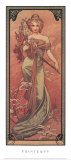 Fr&#252;hling, 1900 Poster von Alphonse Mucha