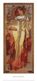 Herbst, 1900 Poster von Alphonse Mucha