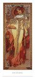 四季-秋, 1900 ポスター : アルフォンス・ミュシャ