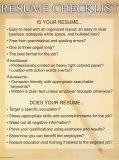 Resume Checklist Prints