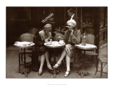 Caf&#233; et cigarette, Paris 1925 Posters