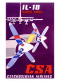 CSA Czech Il 18 Turbo Prop Airline Giclee Print