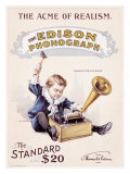 The Edison Standard Phonograph Looking for the Band Giclee Print