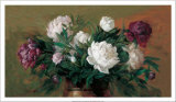 White and Purple Peonies Prints by Joe Anna Arnett