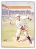 Baseball Pitcher Painting the Corners, c.1905 Giclee Print
